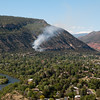 June 8, 2012. The X-Rock Fire burns only a couple of acres before being contained. It was the 10th anniversary of the Missionary Ridge Fire, scars visible in the red rock of the Animas Valley,