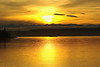 Sunset over the Olympics and the Mukilteo Ferry