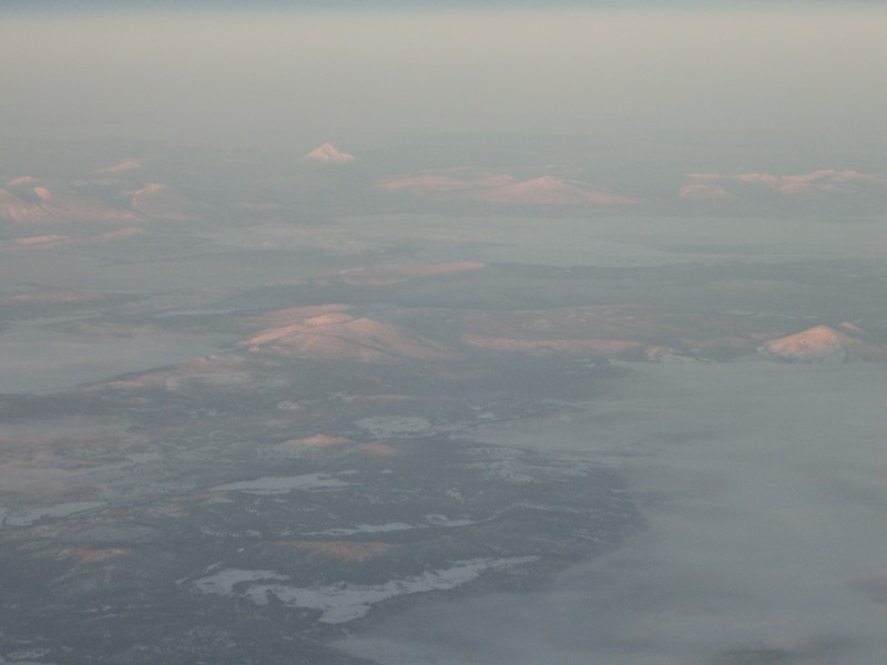 Mt Thiessen & Klamath Falls in the far distance. December 2007