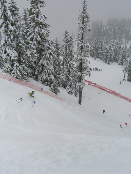 Action from the Mt Baker Legendary Banked Slalom. February 2008