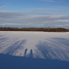 Gary & Stephen looking across the frozen lake