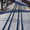 Shadows across the tracks