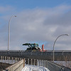 Snow blower on the overpass