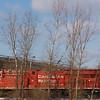 Canadian Pacific locomotive passing through