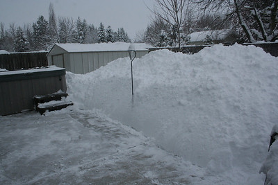 Our snow pile is over 5 feet tall.