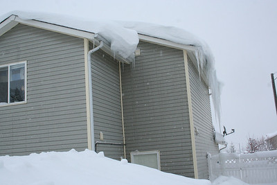 We also had large snow drifts off our roof.