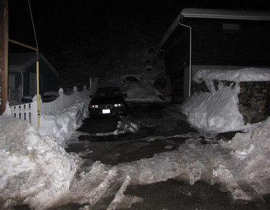 January, 2009. It seems as though we get snow every weekend. There's been at least 3 snowstorms with a foot minimum each time.