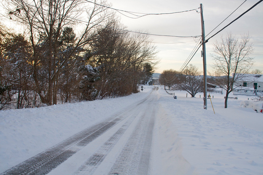 Looking down Ball Rd