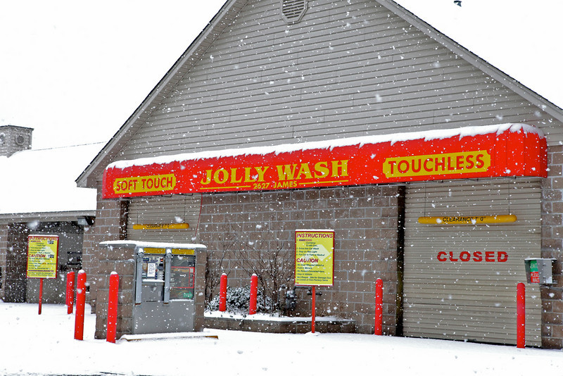 Car wash in Frayser.  Interestingly enough it was closed.