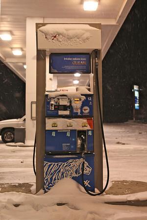 Frozen gas pump.