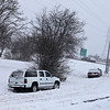 Cars which ran off the road at the Poplar and I-240 exit.