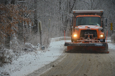 Snow plow near Lee's Summit, Feb. 2021.