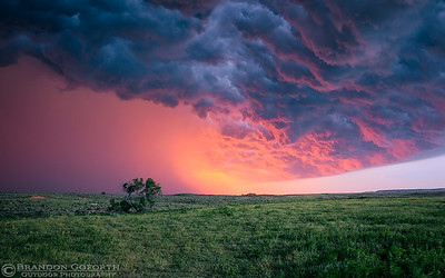 Freedom, OK Sunlit Storm