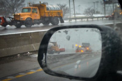 Snow plows in Jackson county, Jan. 2021.