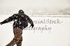 Man throwing snowball