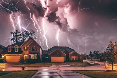 Electric Storm from my Garage (Houston TX)