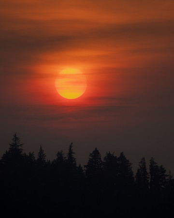 Ness Lake Smokey Sunrise