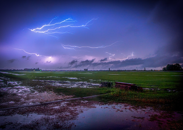 Lightning over the field  (Dayton TX)