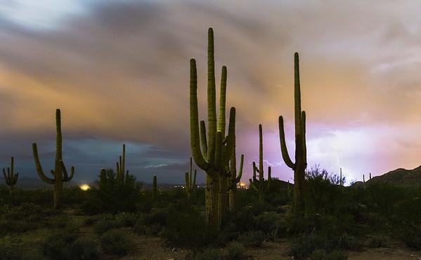 My first night desert scene in the desert!