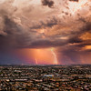 Lightning over South Tucson