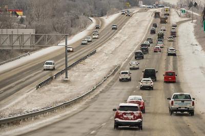 Traffice on Hwy. 50 near Raytown, Feb. 8, 2021
