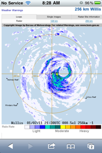 Willis Island Radar before it was wiped out.