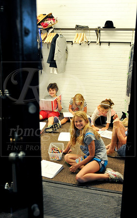 Campers prepare for their scenes in Saturday's presentation of Shakespeare's The Winter's Tale! Even in the old vault at The Old Post Office Playhouse!