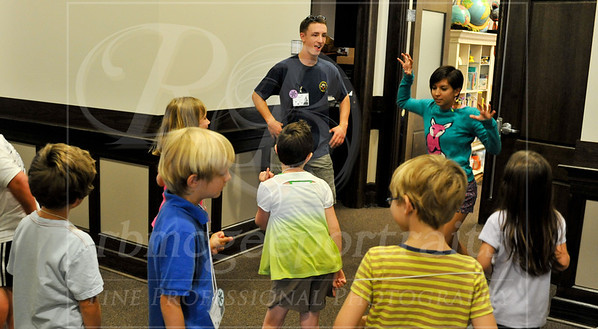 Campers prepare for their scenes in Saturday's presentation of Shakespeare's The Winter's Tale!