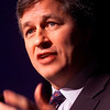 Cyberspace Conference 2000- Chicago IL -James Dimon, Chairman and CEO of Bank One Corporation presents an overview of his company's strategy at the 6th Annual Financial Servicces in Cyberspace Conference here today, Thursday October 12, 2000. The conference, held at the Chicago Sheraton , featured industry leaders in the banking and e-commerce fields. Photo for American Banker by Todd Buchanan. 10/12/2000 Keywords: Finance Banking business executives bank investment internet technology online