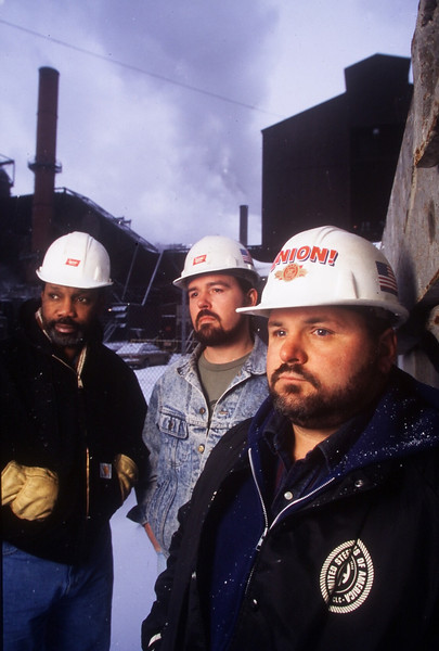 Sterling IL Steel and Iron workers Union members near steel mill in Illinois labor union manufacturing heavy industry employment