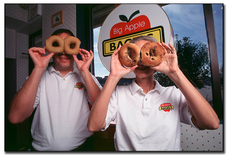 Janesville,WI Owners of Big Apple Bagels, small business, fast food, store, shop, retail