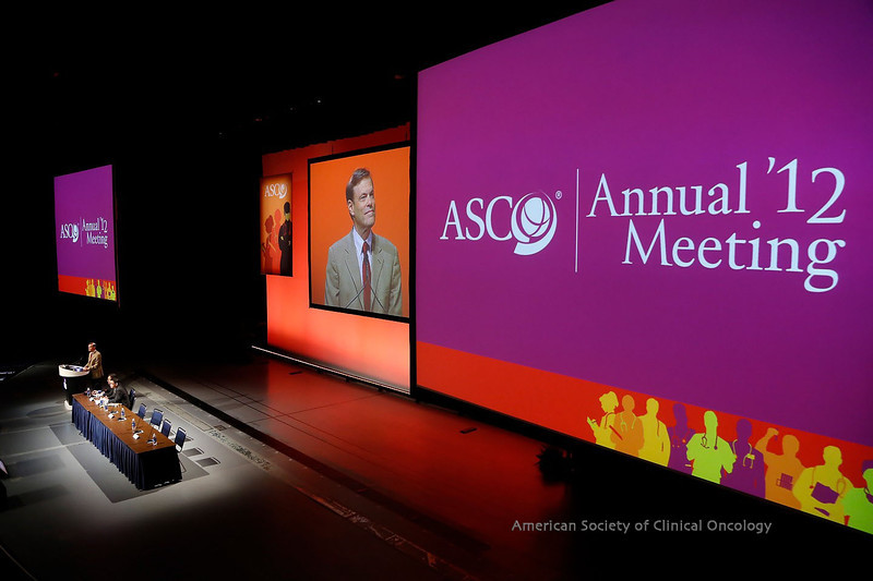 Chicago, IL - ASCO 2012 Annual Meeting: - -96291/LBA8500^--Phase III, randomized, open-label, multicenter trial (BREAK-3) comparing the BRAF kinase inhibitor dabrafenib (GSK2118436) with dacarbazine (DTIC) in patients with BRAFV600E-mutated melanoma**A. Hauschild  during the Oral: Melanoma session at the American Society for Clinical Oncology (ASCO) Annual Meeting here today, Monday June 4, 2012.  Over 31,000 physicians, researchers and healthcare professionals from over 100 countries are attending the meeting which is being held at the McCormick Convention center and features the latest cancer research in the areas of basic and clinical science. Photo by © ASCO/Todd Buchanan 2012 Technical Questions: todd@toddbuchanan.com; ASCO Contact: photos@asco.org