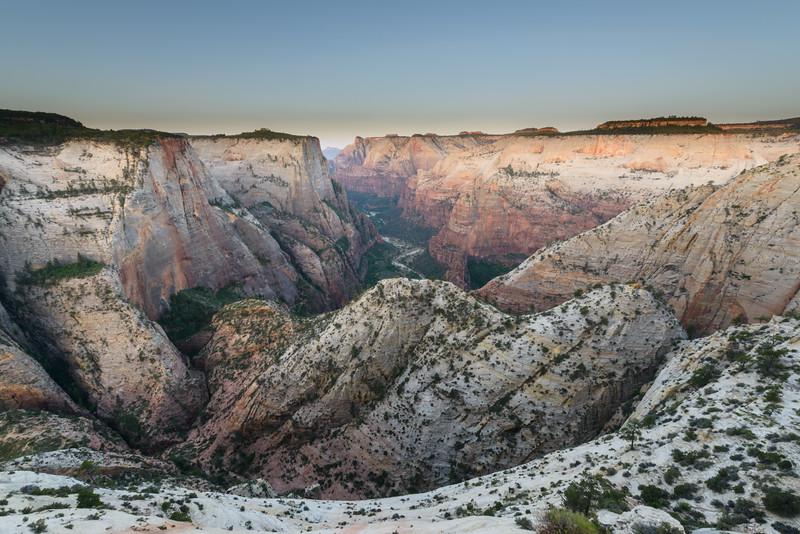 Zion National Park, Rim Dawn