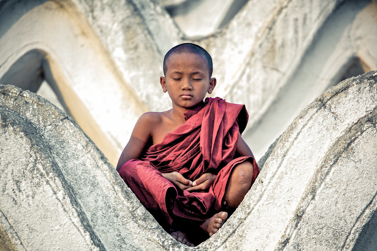 Monk in Myanmar (Burma)