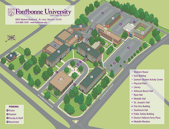 Small version of campus map. Good for use in email or web.