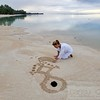 Cansu Bulgu, Sand Meditation Art, Cook Islands
