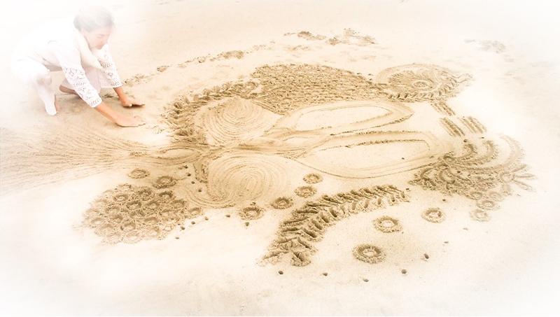 Cansu Bulgu Sand Drawing Sand Meditation Global