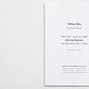'Fabian Peña. The Frozen Moment', invitation to Opening Reception for Bernice Steinbaum Gallery