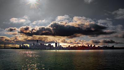 San Francisco skyline from the San Rafael ferry.
