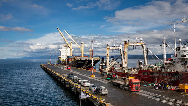 The port of Ushuaia.