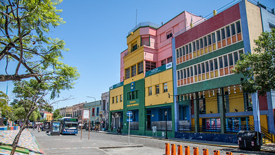 The colorful buildings of La Boca, Buenos Aires.