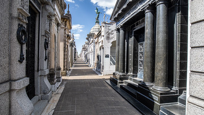 One of the avenues of the Recoleta Cemetery.