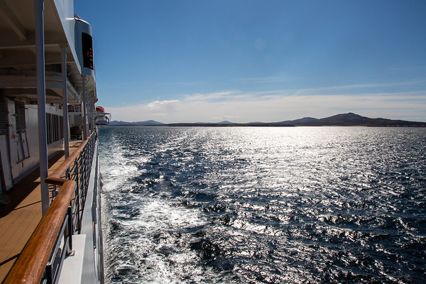 Looking back along the Silver Explorer as it leaves Stanley