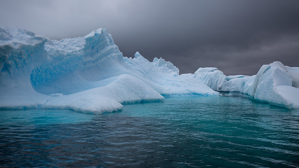 For me the highlight of Cuverville Island was cruising in the zodiac among the icebergs.  Here they were older and weathered, blown and drifted in from distant glaciers.   Much safer than other areas we had visited with icebergs for these were less apt to suddenly cleave and potentially swamp the zodiac.  The colors of the ice is just indescribable.