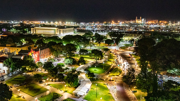 Overlooking the Plaza Intendente Torcuato de Alvear  from our hotel room.