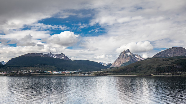 Looking back on Ushuaia from the Beagle Channel.