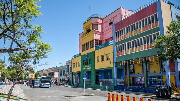 The colorful buildings of La Boca, Buenos Aires.