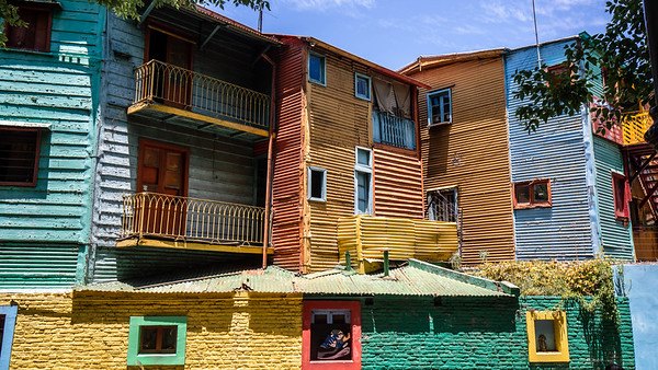 The colorfully painted barrio of La Boca, Buenos Aires