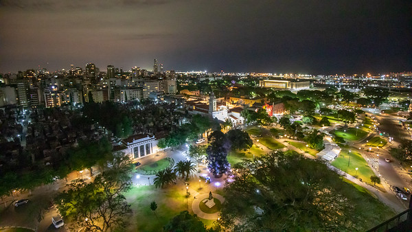 The view from our room at the Hotel Etolie. It was located on the Plaza Intendente Torcuato de Alvear looking down on the Recoleta Cemetery. A fantastic location in the heart of the historic district.