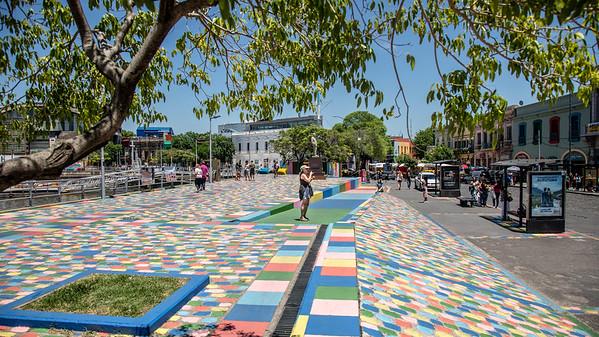 Brilliant colors adorn the entire La Boca district in Buenos Aires